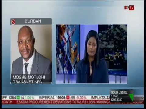 Durban Port Manager Moshe Motlohi on Business Day TV 11 Oct 2017 after #DurbanStorm
