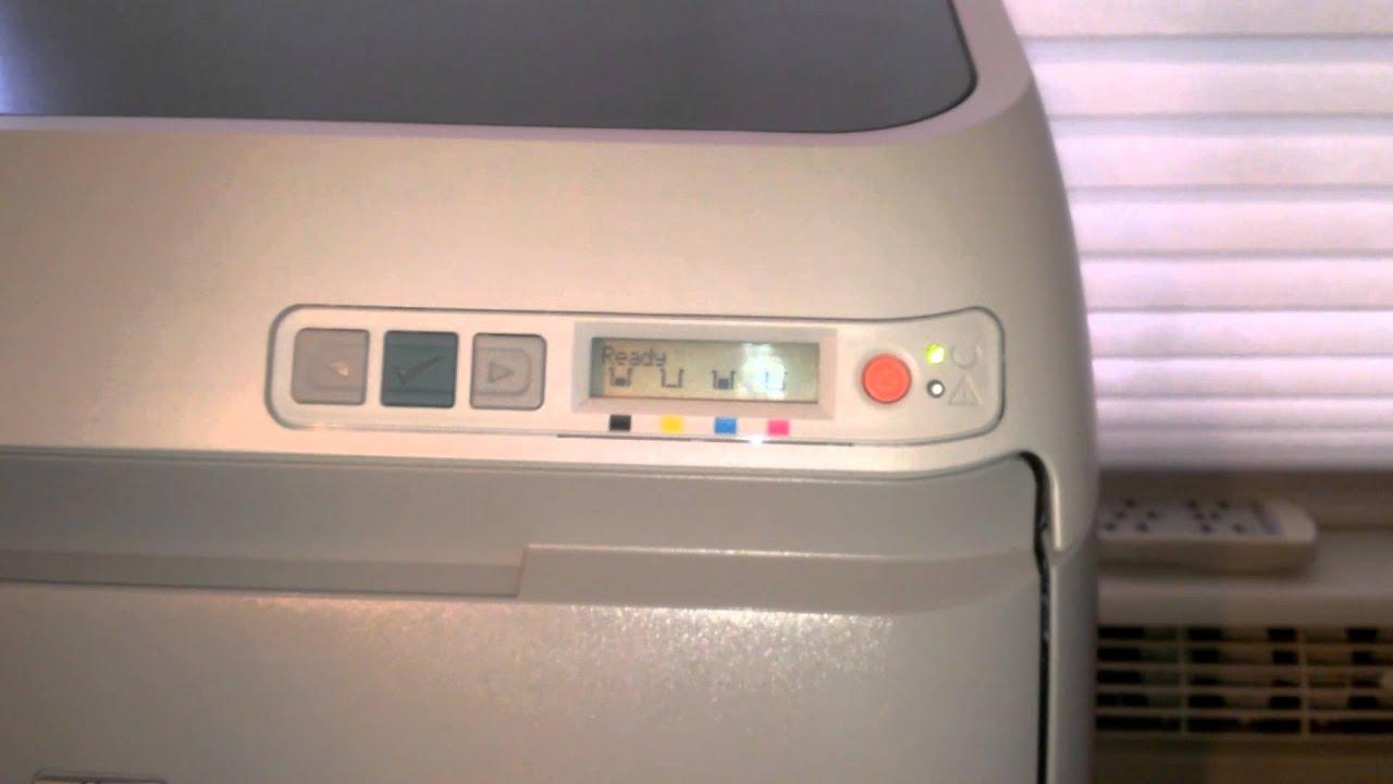HP Color LaserJet 2605dn  YouTube