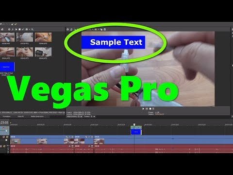 How to add color Background to Text (Vegas Pro)