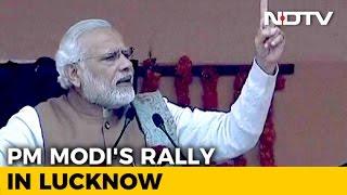 Zapętlaj PM Modi's Speech at BJP Rally in Lucknow | NDTV