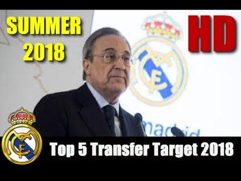 Real Madrid - Top 5 Transfer Target in Summer 2018 | HD