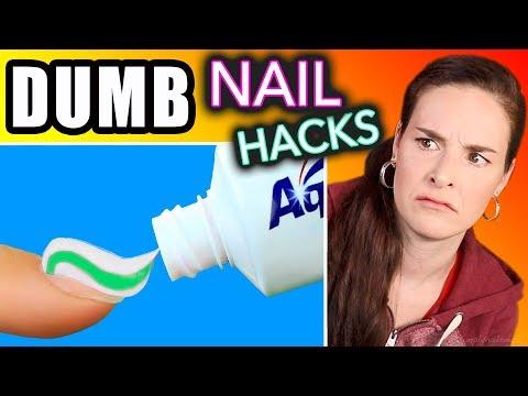 Download Youtube: Testing DUMB Nail Hacks (SimplyNailogical torture)
