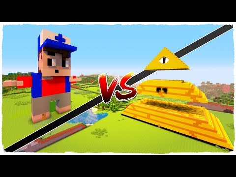 👉 Casa de DIPPER PINES vs casa de BILL CIPHER - MINECRAFT GRAVITY FALLS