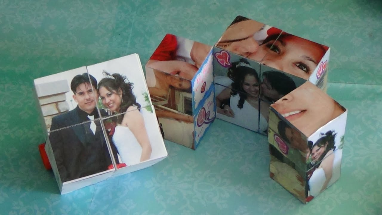 Como hacer un cubo magico con fotos para san valentin 14 - Como hacer un collage de fotos a mano ...