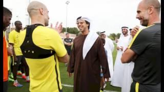 Sheikh Mansour MEETS MAN CITY SQUAD