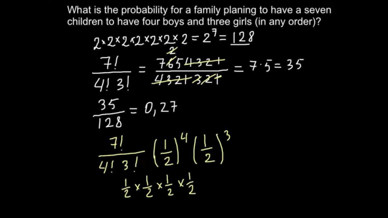 How to solve genetics problems using factorials - YouTube