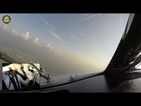 Super-long B727 Takeoff-Run straight into the Sun, great Bogota Views!!! [AirClips]