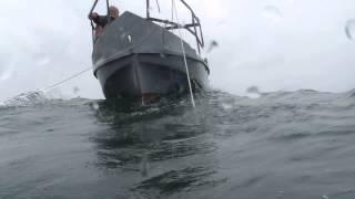 катер Амур в море,начало шторма.(Катер Амур в море.Усиление ветра,волны.Съёмка водолаза., 2014-12-13T23:57:52.000Z)