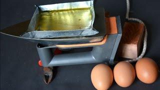 eksperimen menggoreng telur menggunakan strika  listrik