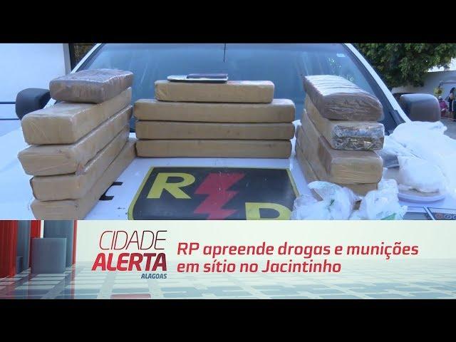 RP apreende drogas e munições em sítio no Jacintinho