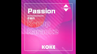Passion : Originally Performed By 쥬얼리  Karaoke Verison