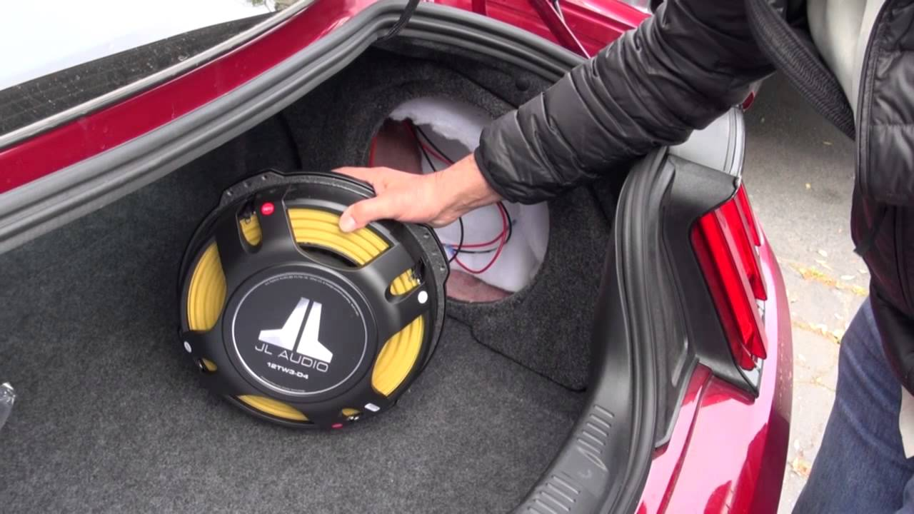 2015 Mustang Jl Subwoofer Installation By Monney Redwood