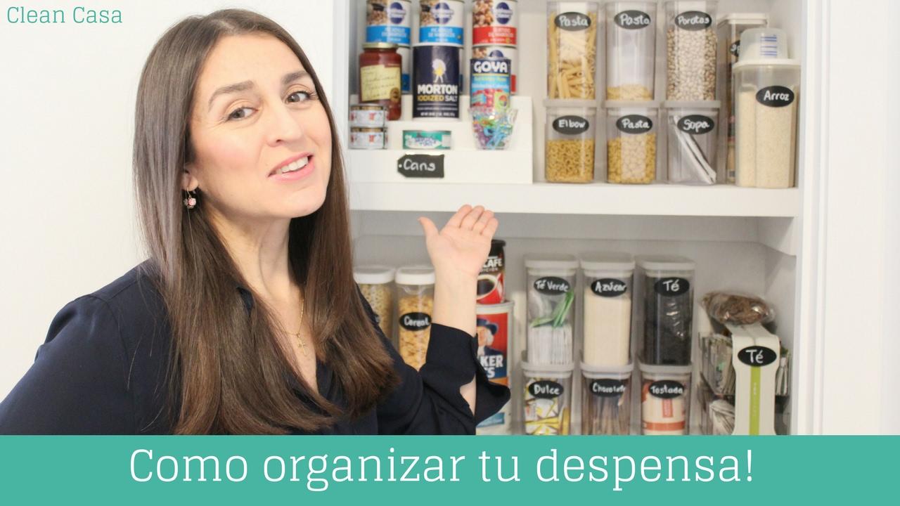 C mo organizar tu despensa clean casa youtube - Como organizar mi casa ...