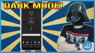 Turn Your Galaxy S8 to the Dark Side! One of the Best Free Themes.