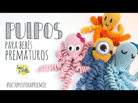 Tutorial Pulpo para Bebés Prematuros Amigurumi (Octopus for