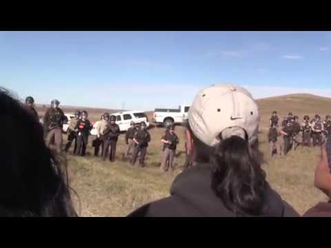 Standing Rock Protectors' Peaceful March Met By The Police State