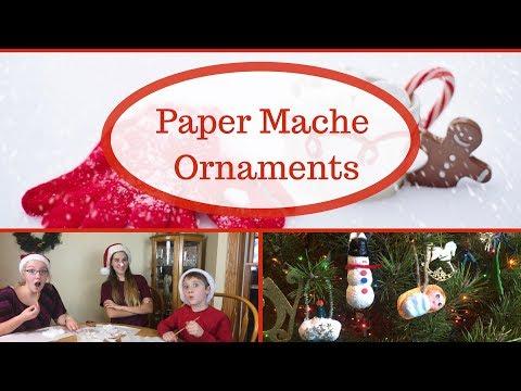 Easy Papier Mache Ornaments - No Plaster of Paris!