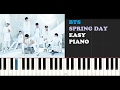 BTS Spring Day EASY Piano Tutorial Teaser mp3