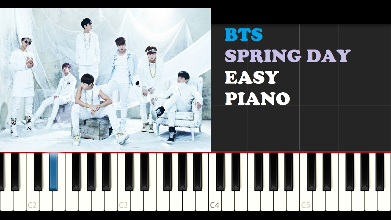 Bts spring day easy piano tutorial teaser chords chordify hexwebz Image collections