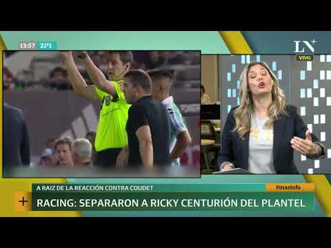 Racing: sancionaron a Ricardo Centurión por la reacción con el DT Coudet