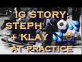 IG mix [9:16] Steph Curry 🔨⚽️💦 + Klay (restless with team picture) at practice 1 day b4 Grizzlies