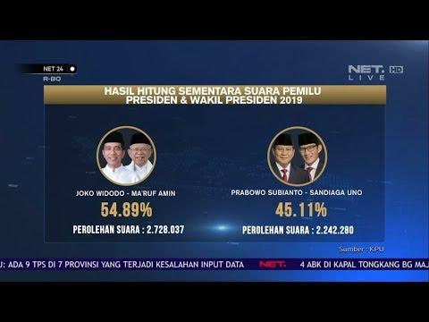 Hasil Hitung Sementara Suara Pemilu Presiden & Wakil Presiden 2019 NET24