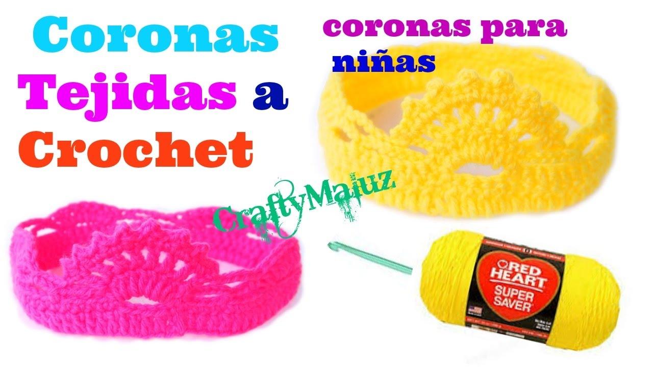 Crochet tutorial coronas tejidas paso a paso diademas - Diademas a crochet ...