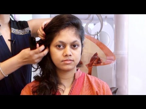 How To Create Quick Hairstyles For Girls YouTube - Indian hairstyle for round face video