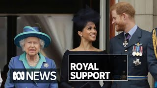 Download The Queen gives her blessing to Prince Harry and Meghan Markle moving on | ABC News Mp3 and Videos