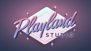 Gambar cover Playland Logo   Vector speed lettering/drawing   Affinity Designer