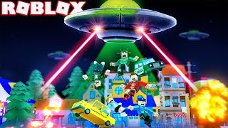 UFO ALIEN INVASION IN ROBLOX! (Roblox Alien Invasion Simulator)