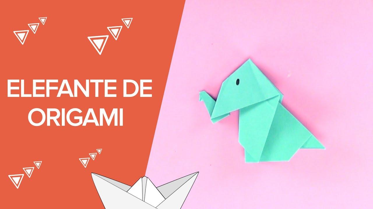 C mo hacer un elefante de origami paso a paso - Papiroflexia paso a paso ...