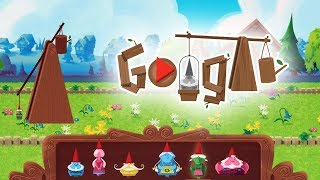 Garden Gnomes New Google Doodle Gameplay - All Gnomes fly