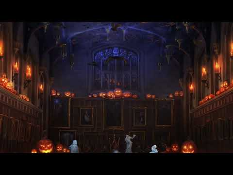 🎃 ASMR - Halloween night in the Great Hall (Harry Potter ambience) 🎃