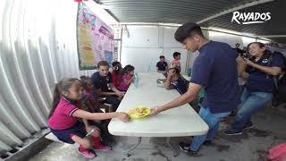 #Rayados Sub15 y Hambre Cero N.L. unieron esfuerzos para llevarles sorpresas y alegría a los pequeños del comedor infantil Verlos Sonreír A.C.