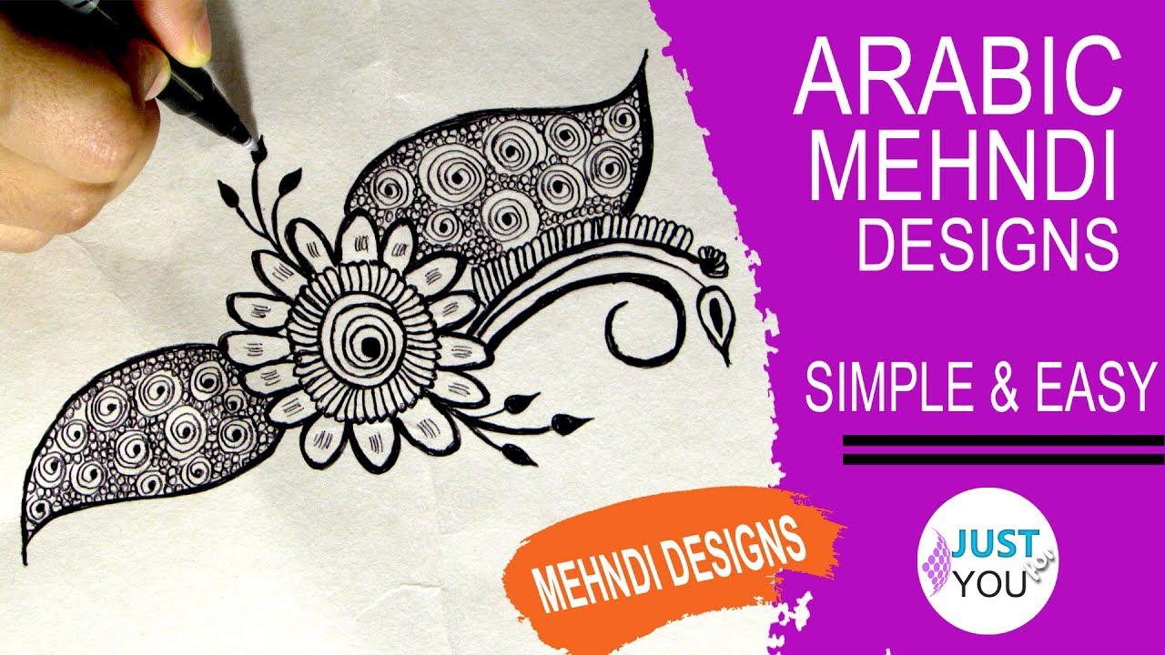 Arabic Mehndi Designs Simple And Easy Mehndi Designs On Paper