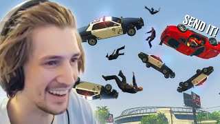 THE MOST EPIC CHASE IN NOPIXEL HISTORY | xQc GTA Roleplay