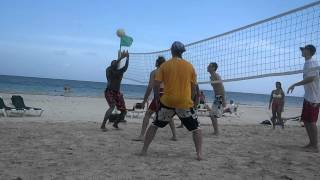 Volleyball on the beach July 4th