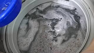 과탄산수소로 세탁기 청소하기