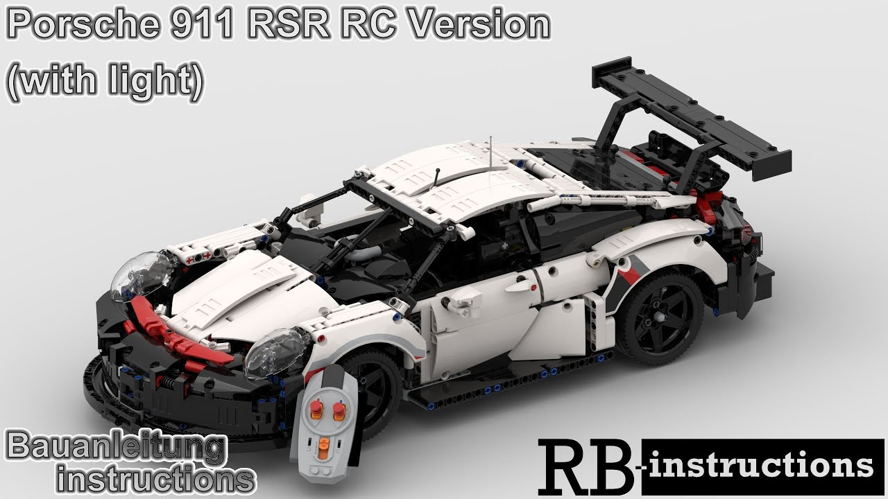 rbi lego technic 42096 porsche 911 rsr rc version mit. Black Bedroom Furniture Sets. Home Design Ideas