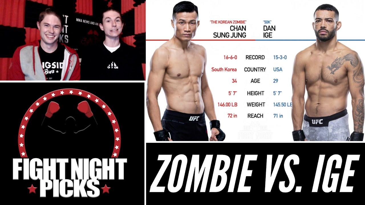 UFC Fight Night predictions -- Korean Zombie vs. Dan Ige: Fight ...