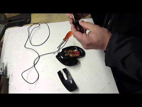 optische Maus öffnen - opening an optical  mouse from Hewlett Packard