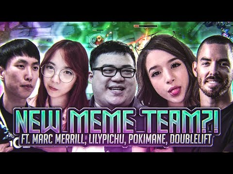 Scarra - NEW MEME TEAM?! (ft. Marc Merrill, LilyPichu, Pokim