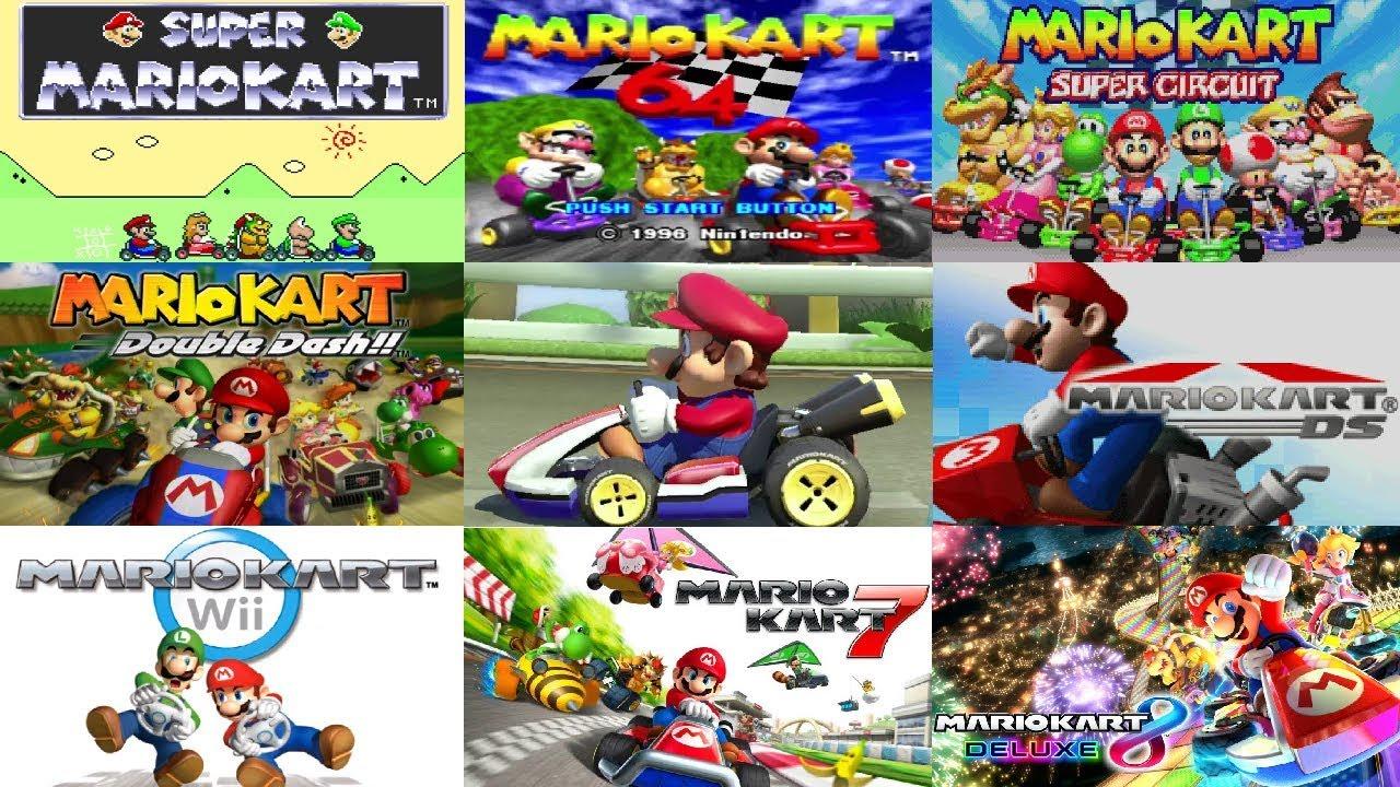 Mario Kart Series - All Courses (1992-2017)