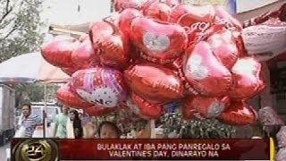24ORAS: Bulaklak at iba pang panregalo sa Valentine's Day, dinarayo na