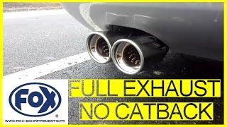 audi a3 3 2 v6 full exhaust no catback fox