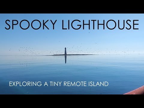 Eerie Remote Lighthouse - Lake Michigan