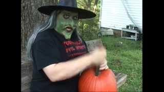 Carve A Witch Hazel Pumpkin