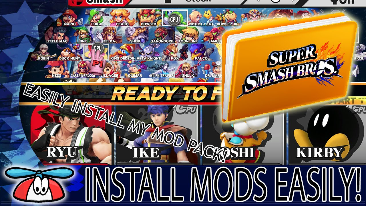 EASILY INSTALL MODS - Super Smash Bros  for Wii U
