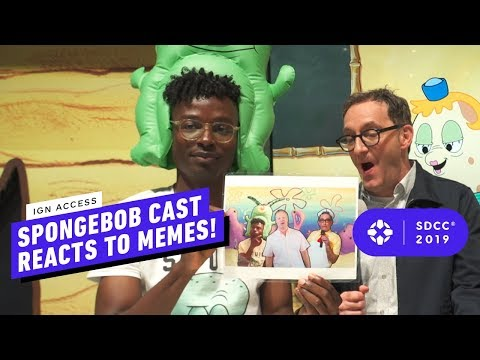 SpongeBob Voice Actors React to Classic SpongeBob Memes - Comic Con 2019